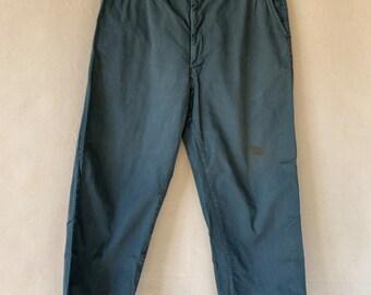 Vintage 35 Waist Teal Cotton Twill Chinos Pants | TC19