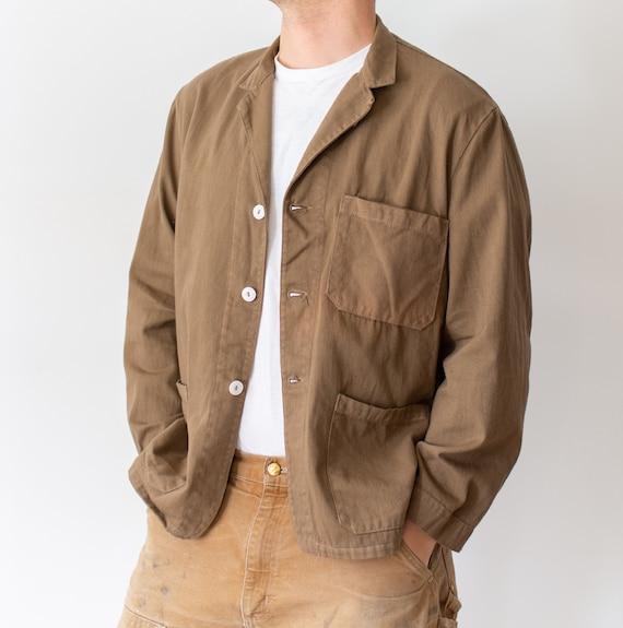Vintage Mushroom Brown Overdye Chore Jacket   Doub