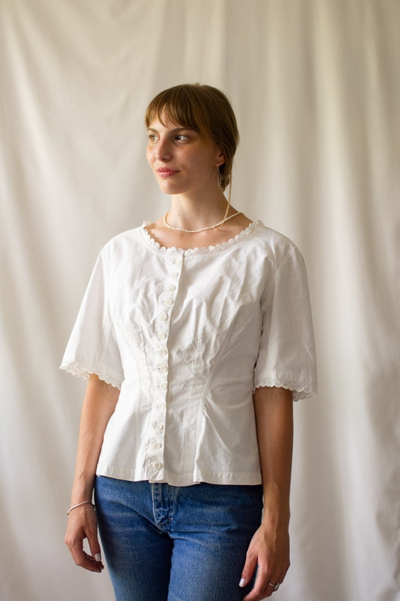 Sourced in France | Vintage Victorian White Cotton