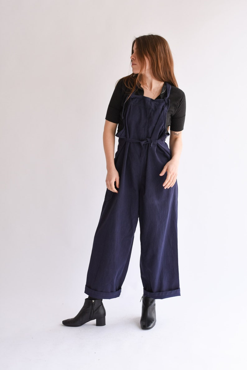 a9e773a585b Vintage Overdye Navy Blue Tie Overalls 1940s USN WW2 US Navy