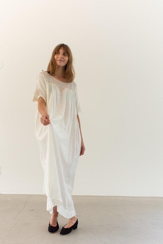 Vintage White Cotton Crochet Dress | Antique Whit… - image 2