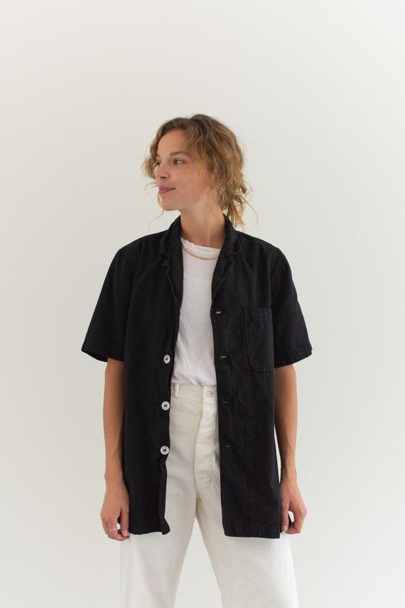Vintage Black Short Sleeve Work Shirt | Workwear P