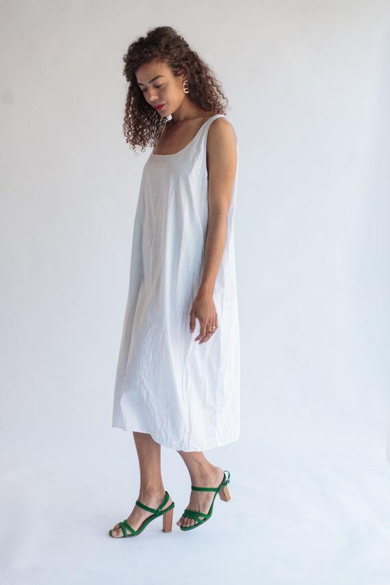 Vintage White Cotton Shift Dress White Nightgown Vintage  9b12c757d
