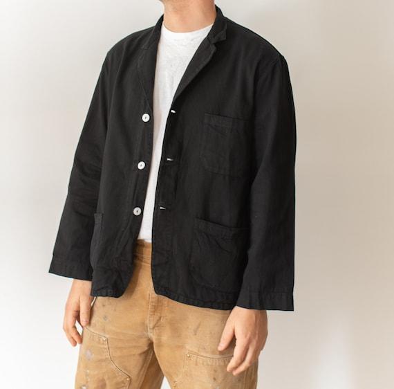 Vintage Black Overdye Classic Chore Jacket | Unise