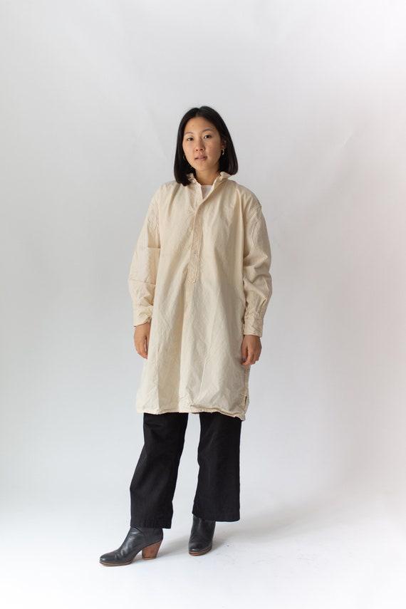 Vintage Cream Ecru Popover Tunic Shirt | 50s Artis