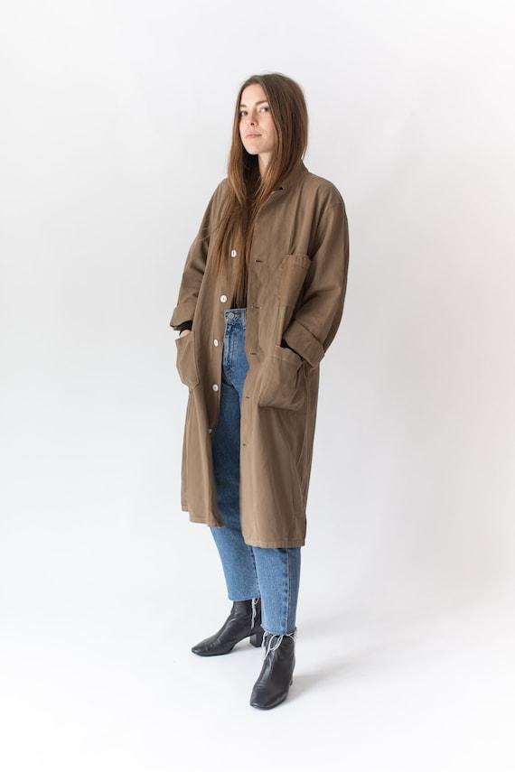 Vintage Mushroom Brown Shop Coat | Overdye Brown C