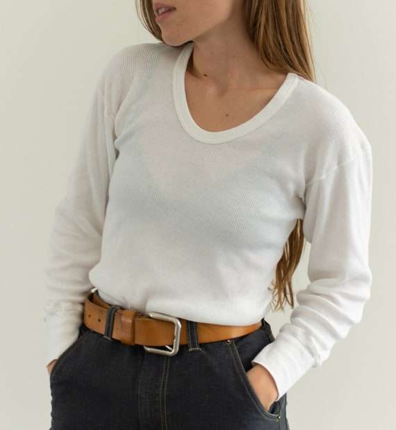 The Vienna Thermal | Vintage Cotton White Ribbed L