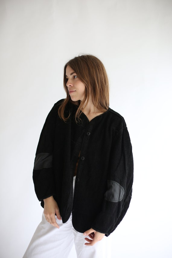 Vintage Black Overdye Pile Liner Jacket | Terry Cl