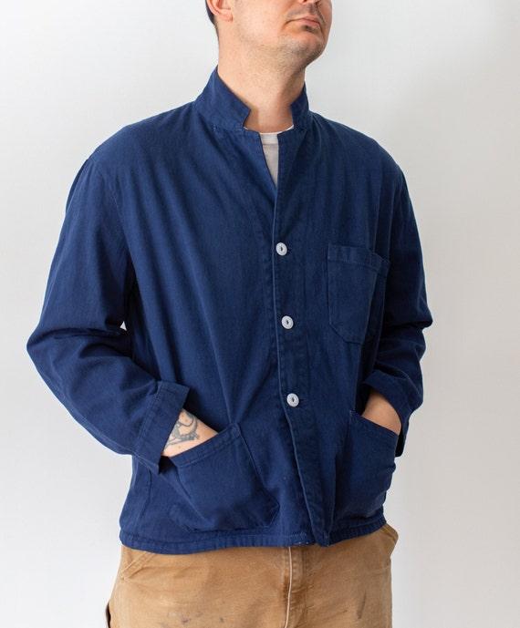 Vintage True Blue Overdye Chore Jacket   Double Po