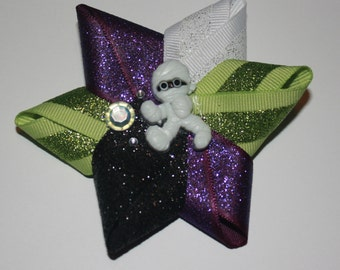 3.5 in. Halloween (Mummy) Inspired Boutique Hair Bow Clip