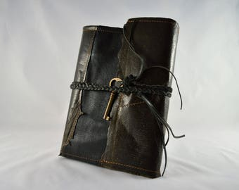 A unique journal, diary, guestbook or scrapbook made of wolffish fish-skin/fish-leather