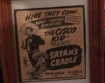 Movie Card Cisco Kid Satans Cradle From 1949 Free Shipping
