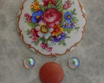 Floral cabochon set