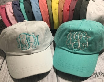 0f5fbae17c3 Monogrammed Hat - Baseball Cap - Monogrammed Cap - Embroidered Hat - Personalized  Hat - Woman s Baseball Cap - Bridesmaid Gift -Personalized