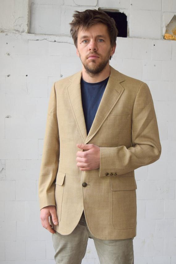 Vintage Linen Blazer Austin Reed Sport Coat Classic Gem