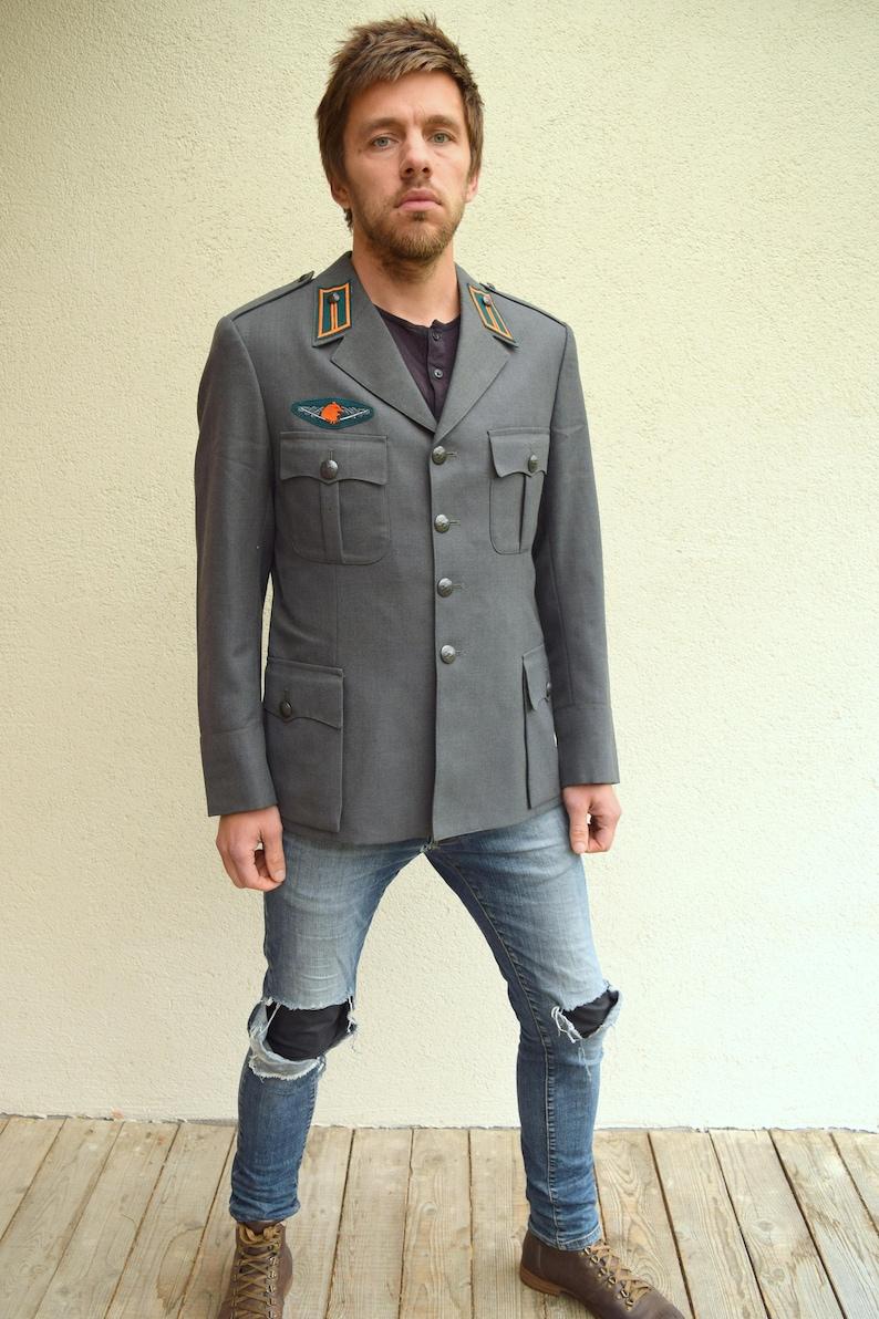 Beste Leger licht grijs jasje mannen uniform grijze heren jas   Etsy SO-66