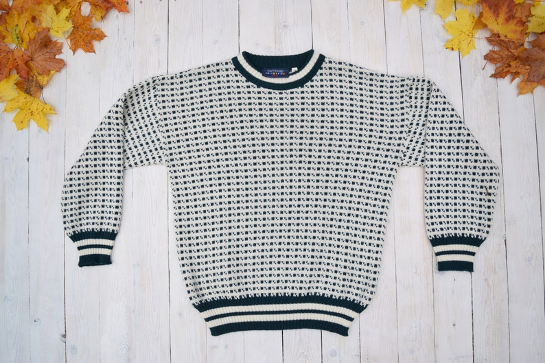498277ed344 Vintage Nordic sweater Christmas sweater knitted wool