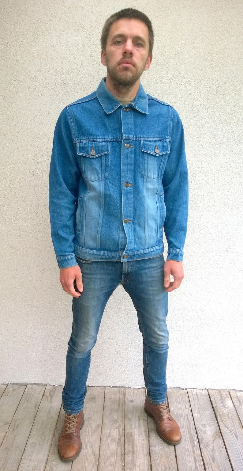 1b863989 Blue Authentic denim jacket, women denim, men's outdoor jacket, free time  jacket, vintage jean jacket, vintage workwear, L/M (TW62)