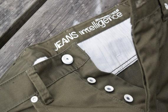 Khaki denim pants - Army style jeans - Vintage mi… - image 8