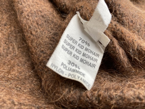 Brown mohair sweater - Women's floral pullover - … - image 8