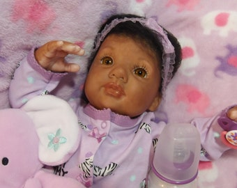 Reborn Biracial Baby Doll by CK