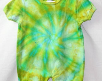 Boho Long Sleeve Hippie Baby Toddler 100/% Cotton Tie Dyed Ice Dyed Romper One Of A Kind FREE SHIPPING Infant 24 Month