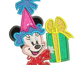 Minnie Mouse 1st Birthday Applique Design 3 sizes instant download