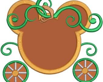 Disney Princess Pumpkin Carriage Applique Design