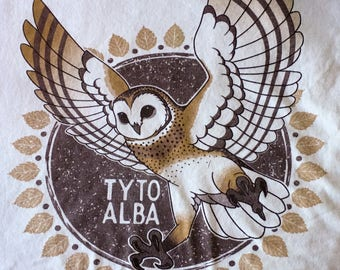 Barn Owl (TYTO ALBA) Graphic T-Shirt (Organic Cotton!)