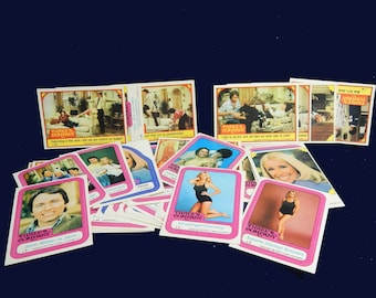 1978 Three's Company Trading Sticker Cards - Full Set of 44 - Suzanne Sommers - John Ritter - Joyce DeWitt