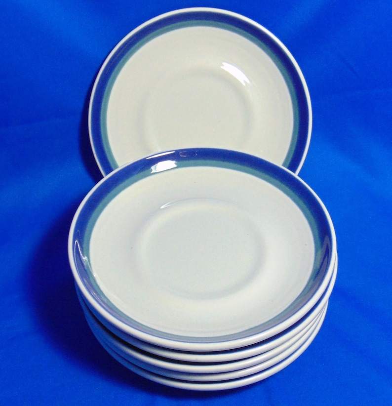 Tableware Blue Green Made In USA 2 Dinner Plates Pfaltzgraff Northwinds Or 6 Saucers 2 Salad Plates Dinnerware Plates Bowls