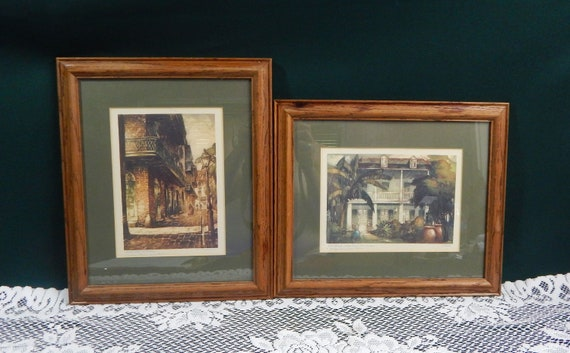 Al Mettel Artwork Pirate/'s Alley New Orleans Lithographs Historical Louisiana Sites Spanish Custom House Mid-Century Lithographs