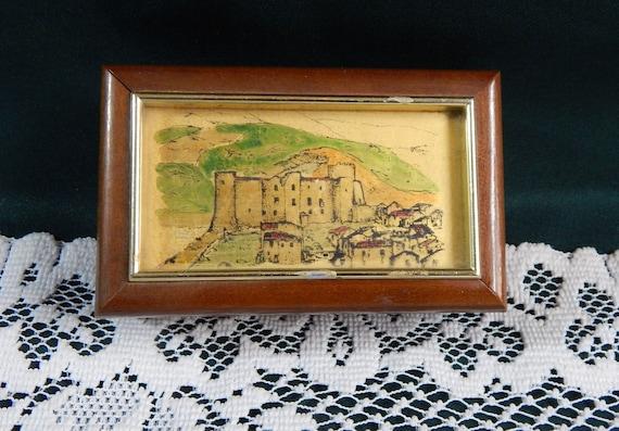 Italian Trinket Box - Hand Crafted Box - Gold Foil
