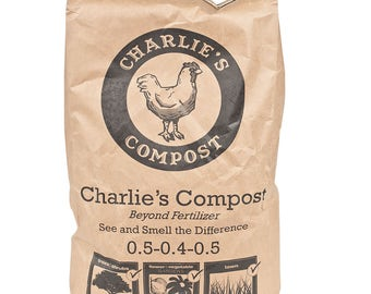 25 Lbs. CERTIFIED ORGANIC - Charlie's Compost , Tea Quality .. Soil Builder .. Chicken Manure