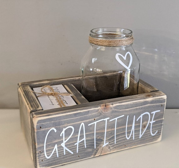 Gratitude kit: cards jar box gratitude jar gift for