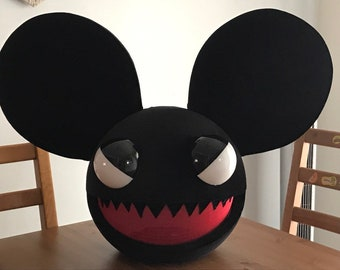deadmau5 evil halloween costume head for kids and adults