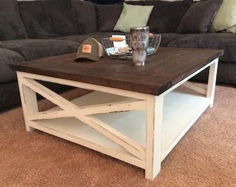 rustic farmhouse coffee table Farmhouse coffee table | Etsy rustic farmhouse coffee table
