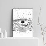 Kabah Illustration, Islamic Art, Abstract Print