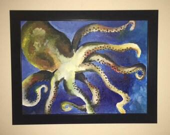 Octopus Lovin' beach themed painting
