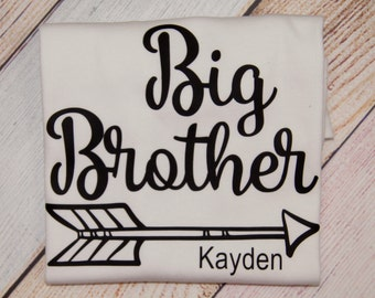 Personalized Big Brother Shirt - I'm the Big Brother - Older Brother Shirt - Sibling Shirts - Boys Shirts - Pregnancy Announcement Shirt