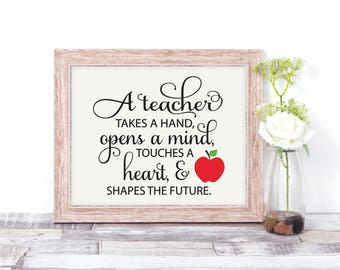 Teacher Gifts - End of Year Teacher Gift - Wall Art Classroom Decor - Teacher Sign - Teacher Retirement Gift - Teacher Appreciation Gift