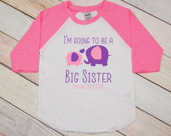 Announce Pregnancy, Big Sister Shirt, Big Sister Outfit, Big Sis Shirt, Big Sister to Be, Sister Sibling Sister Shirt, Pregnancy Reveal