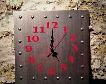 Custom aluminum clock