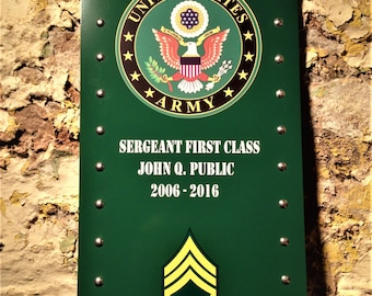Personalized Army Sign