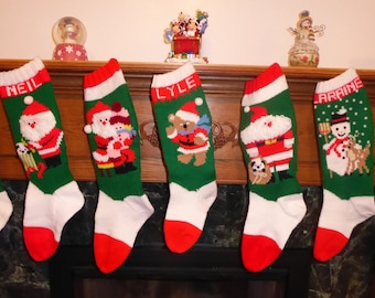 knitted christmas stocking pattern collection - Knitted Christmas Stockings