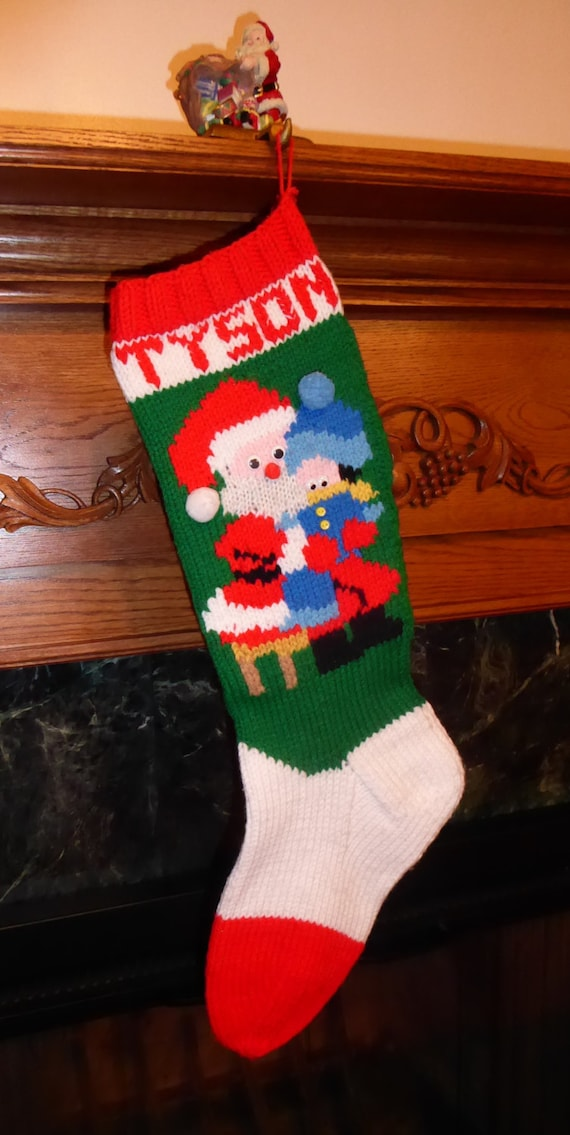 Knitted Christmas Stocking Pattern All I Want For | Etsy