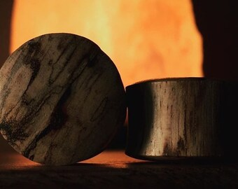 Organic Hand Made Tamarindus Indica Wood Plugs   5mm-51mm   1 Pair  