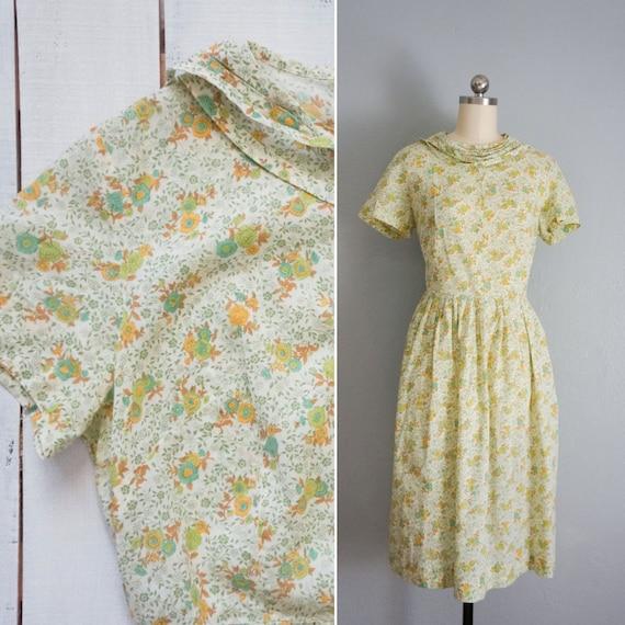 1950s Summer Meadow handmade cotton dress | vintag