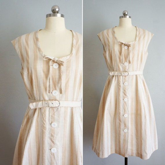 1950s Georgia gingham day dress | vintage 50s cott