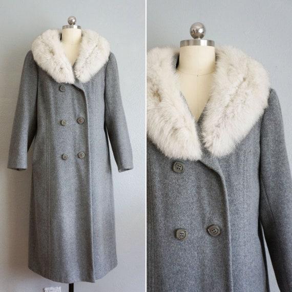 1970s Alva coat with soft fox fur collar | vintage